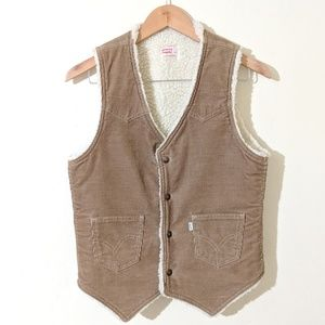 Vintage Levi's Corduroy Vest with Sherpa Lining